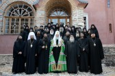 Primate of the Russian Church celebrates prayer service at the Monastery of Pantocrator