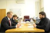 Metropolitan Hilarion of Volokolamsk meets with Polish Ambassador Wojciech Zajączkowski