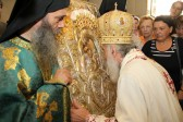 Patriarch Irenaeus of Serbia celebrates at the Belgrade Representation of the Russian Orthodox Church