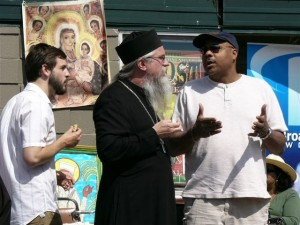 Fr. Paisius in conversation, Troost Festival 2009. St. Mary of Egypt Orthodox Church