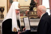 President of Greece Karolos Papoulias awards Patriarch Kirill with the Order of Honour