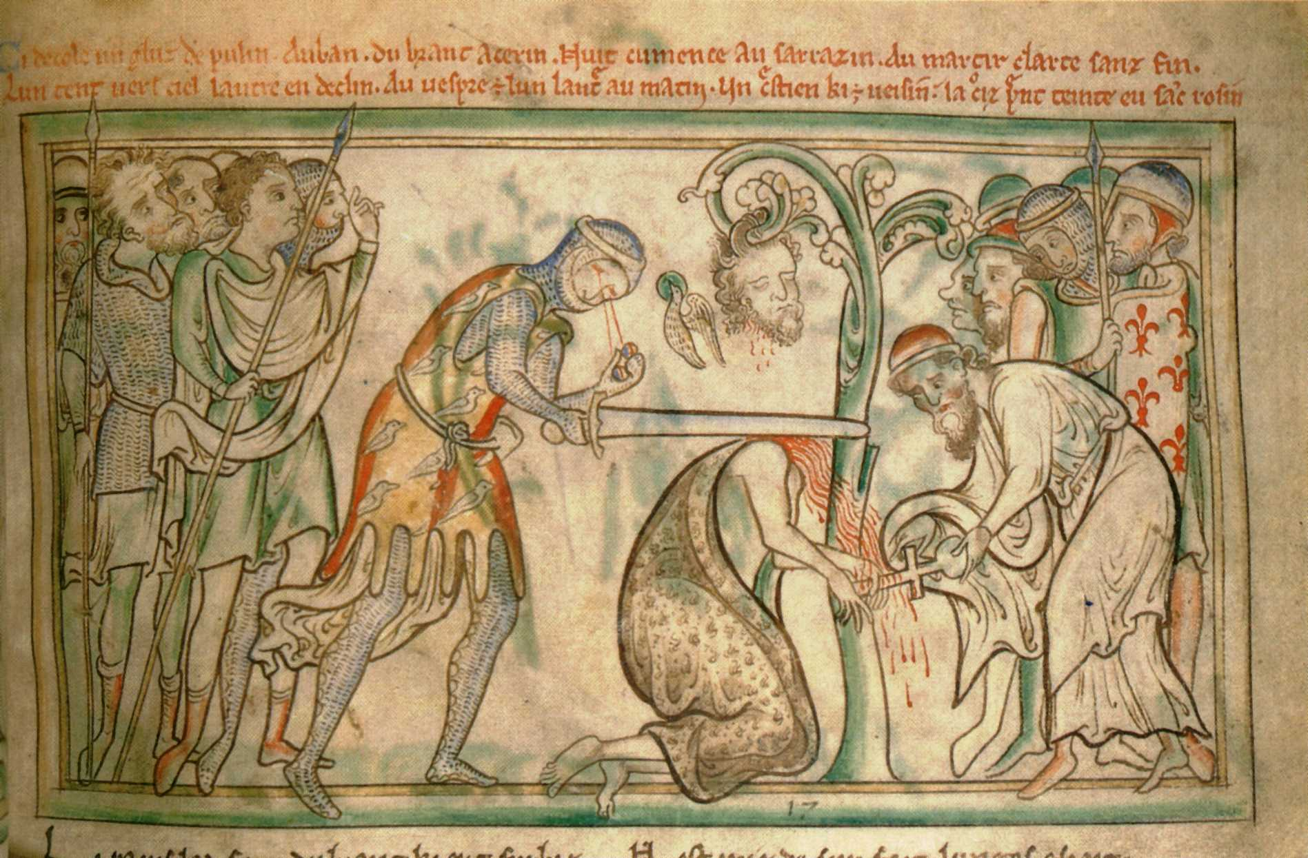 The martyrdom of St. Alban from a 13th-century manuscript of his life