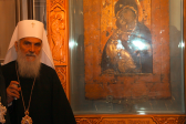 Patriarch Irinej of Serbia venerates shrines in Moscow