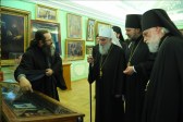 Serbian Orthodox Church delegation visit Moscow theological schools and Sofrino art production factory