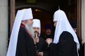 Patriarch Kirill, Metropolitan Tikhon meet in Moscow