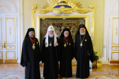 His Holiness Patriarch Kirill greets delegation of Orthodox Church of Antioch