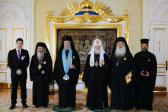 Patriarch Kirill's meeting with Archbishop Chrisostomos of Cyprus