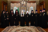 His Holiness Patriarch Kirill meets with delegation of Ecumenical Patriarchate