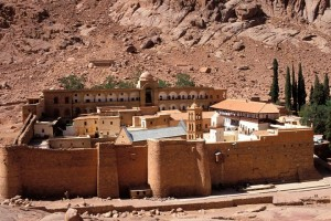 St. Catherine's Monastery at the foot of Mount Sinai in Egypt (Godong / Universal Images Group via Getty Images) Read more: http://world.time.com/2013/07/21/monks-in-egypts-lawless-sinai-hope-to-preserve-an-ancient-library/#ixzz2ZmHl83B1