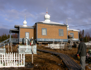 St. Sergius of Radonezh Church in Chuathbaluk, on the Kushokwim River, Alaska.