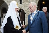 Patriarch Kirill confers church honor on Tallin mayor