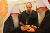 Metropolitan Filaret of Minsk and Slutsk meets with Metropolitan Tikhon of All America and Canada