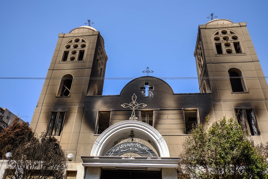 Coptic churches burned down in Egypt's Minya province