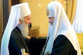 Primate of Serbian Church thanks Patriarch Kirill for hospitality during his peace visit and celebration marking 1025th anniversary of the Baptism of Rus'