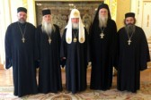 His Holiness Patriarch Kirill receives representatives of Abkhazian clergy