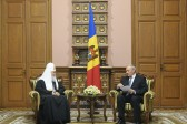 His Holiness Patriarch Kirill meets with Mr. Nicolae Timofti, President of Moldova