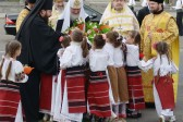 His Holiness Patriarch Kirill celebrates Divine Liturgy in the square before Cathedral of Nativity of Christ in Chişinău