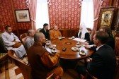 His Holiness Patriarch Kirill meets with Shi Yongxin, Abbot of the Shaolin Temple