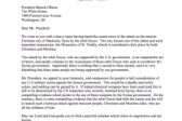 An Open Letter to President Obama Regarding the Situation in Syria