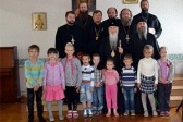 Archbishop Mark of Berlin and Germany Visits Smolensky Cathedral and School with Other Clergymen of the Russian Church Abroad