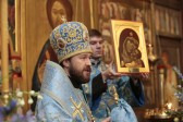 Metropolitan Hilarion celebrates at the Church of the Nativity of Our Lady-at-Staroye-Simonovo on its patronal feast day