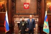 Metropolitan Hilarion of Volokolamsk meets with Russia's Ambassador to Great Britain
