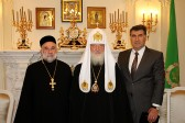 His Holiness Patriarch Kirill receives Archpriest Samuel Gümüs, special representative of the Patriarch of Syriac Orthodox Church