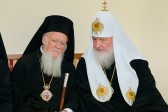 His Holiness Patriarch Kirill meets with His Holiness Patriarch Bartholomew of Constantinople