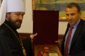 Metropolitan Hilarion of Volokolamsk meets with Mr. Gebran Bassil, Lebanon's acting Minister of Energy and Water
