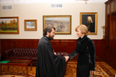 Metropolitan Hilarion of Volokolamsk meets with new Latvian ambassador to Russia