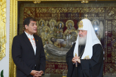 Primate of the Russian Orthodox Church meets with President of Ecuador