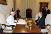 Pope Francis And Vladimir Putin Discuss Catholic-Orthodox Relations And Kiss Madonna Icon At Vatican