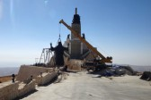 In midst of Syrian war, giant Jesus statue rises