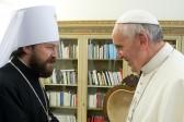 Metropolitan Hilarion of Volokolamsk meets with Pope Francis