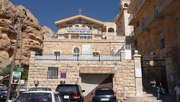 Greek Orthodox convent of St Thecla (Mar Takla) in the village of Maaloula