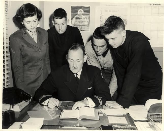 Fr. Boris Geeza offers Bible study to military personnel in the mid-1950s.