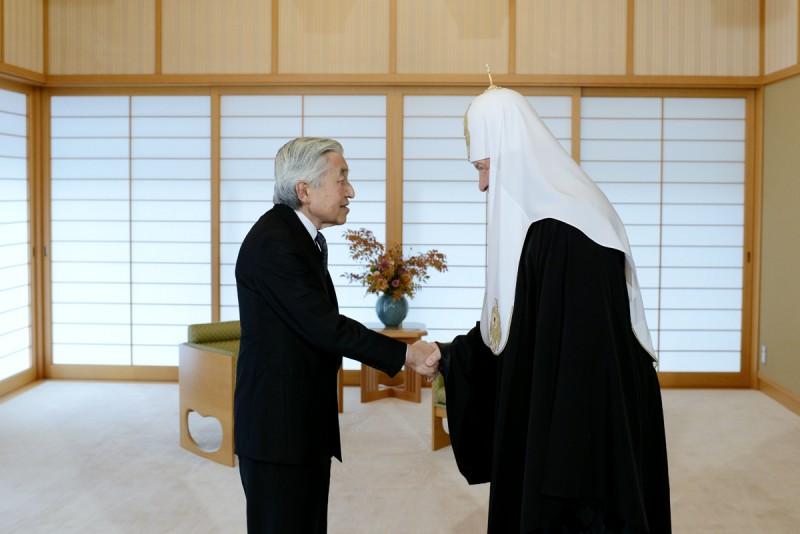 Patriarch Kirill and  Emperor Akihito, September 2012.