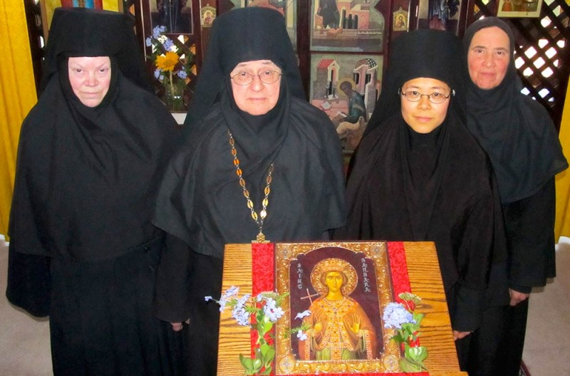 All for one, one for all: From left to right, Mother Olga, Mother Victoria, Mother Paraskeva and Mother Nina are the sisters of St. Barbara Orthodox Monastery. (Judith van Vliet)