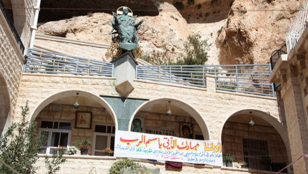 A picture taken on September 13, 2013, shows the Mar Takla Christian Orthodox monastery in the Syrian Christian town of Maaloula. (AFP PHOTO/STR)