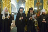 Patriarch John X and Patriarch Kirill visit the Moscow Representation of the Church of Antioch