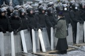 In Kiev, Protests Bring Orthodox Priests To Pray On The Frontline Despite Government Warnings