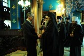 His Beatitude Patriarch John X of Antioch meets with Russian Foreign Minister Sergei Lavrov