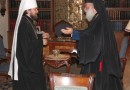 Metropolitan Hilarion greets His Beatitude Patriarch Theodoros II of Alexandria with his Name Day