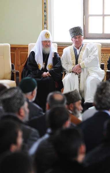 Visit of His Holiness, Patriarch Kirill, to Azerbaijan. Visiting the Caucasian Muslims Office.