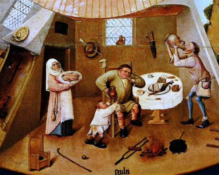 Hieronymus Bosch. A fragment from The Seven Deadly Sins and the Four Last Things