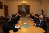 Metropolitan Hilarion of Volokolamsk expresses concern over sufferings of Christians in Syria during the meeting with representatives of Syrian opposition