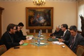 DECR chairman meets the new French ambassador to Russia