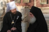 Metropolitan Hilarion celebrates Divine Liturgy at Vatopedi Monastery