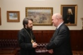 Metropolitan Hilarion meets the ambassador of Ireland in Russia