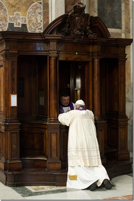 Pope Francis and confession